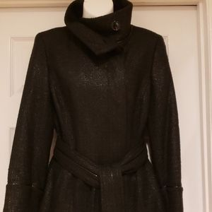 Zara Black with Faux Leather Piping Jacket EEEUC